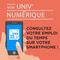 Mon Univ Numérique - Consultez votre emploi du temps sur votre smartphone